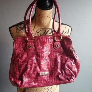Steve Madden Pink Alligator Patten Leather Bag
